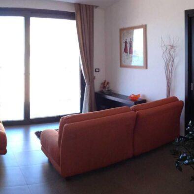 Soggiorno comune con vista mare del B&B Sirio Villa San Giovanni